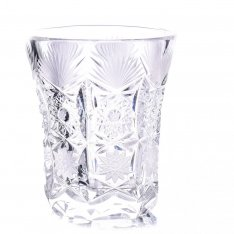 Set of two crystal hand cut lime pouches Šafránek 692 ORQQI0456
